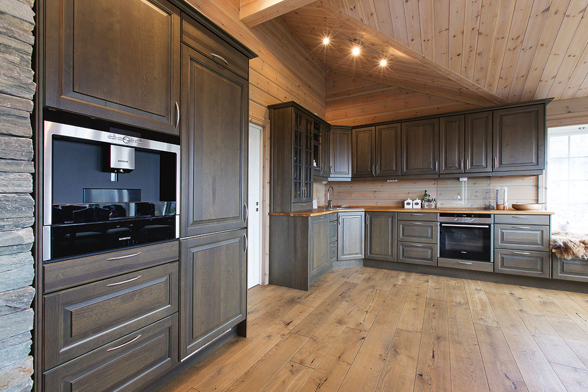 Hyttekjøkken, Rustikt kjøkken, Tradisjonelt kjøkken